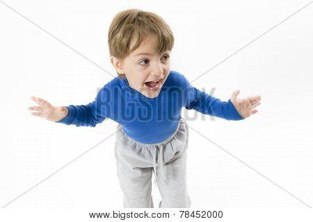 Funny Boy Shouting