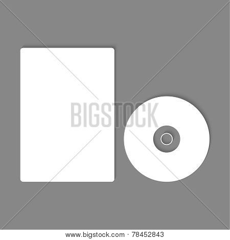 Blank CD, DVD mock up.