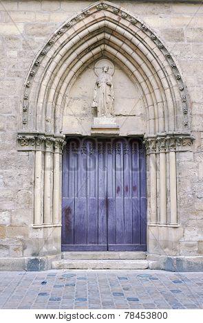 Portal in romanesque church