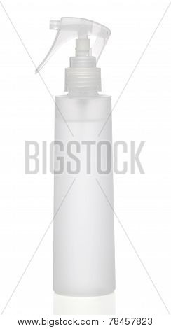 White blank spray with dispenser isolated