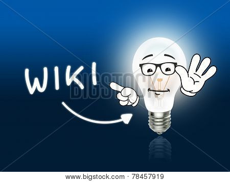 Wiki Bulb Lamp Energy Light Blue