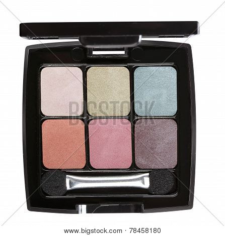 Eye shadows with eye shadow brush
