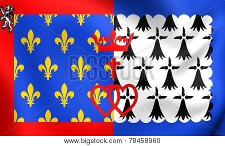 Flag Of Pays De La Loire, France.