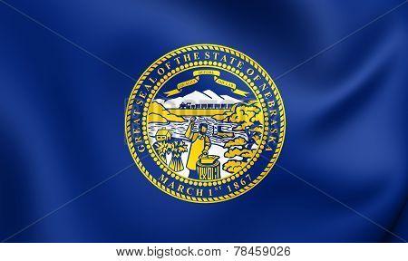 Flag Of Nebraska, Usa.