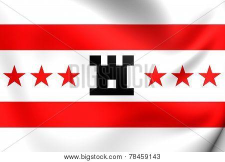 Flag Of Drenthe, Netherlands.