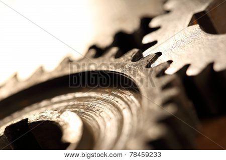 Three Steel Cogwheels