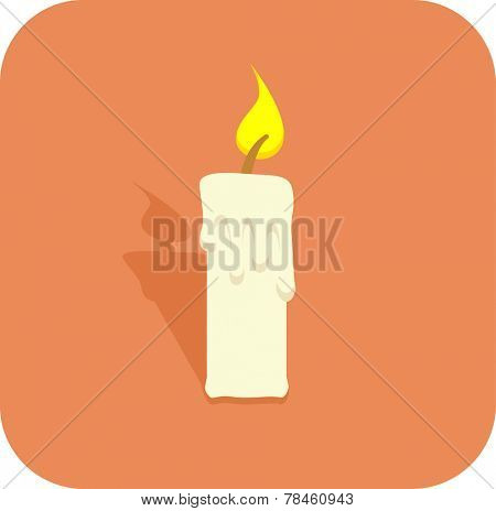 lighted candle icon