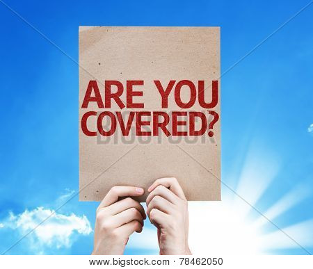 Are You Covered? card with beautiful day