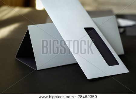 Blank envelope and letterhead
