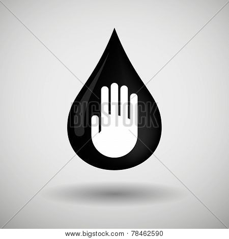 Oil Drop Icon With A Hand