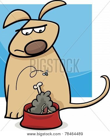Dog And Nasty Food Cartoon