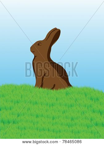 Easter Chocolate Bunny Card