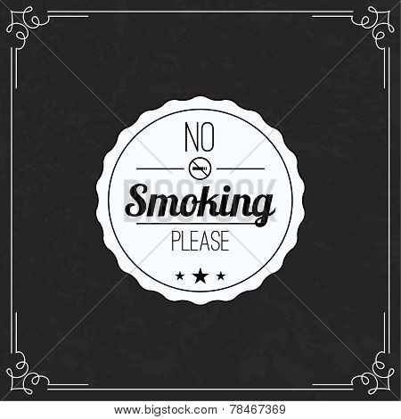 Please no smoking label.