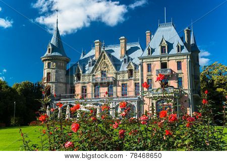 Beautiful Schadau Castle in the Thun city, Canton Bern, Switzerland