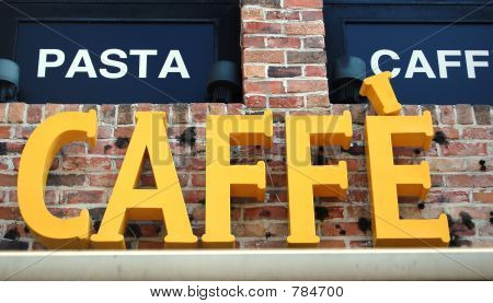 Caffe sign