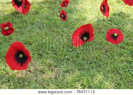 Artificial Poppy Flowers.