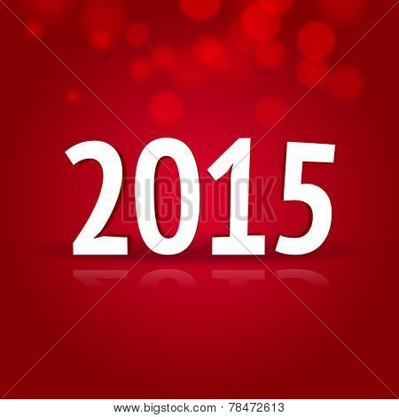 2015 New Year card with red background
