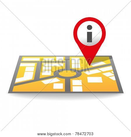 Map icon with the pin