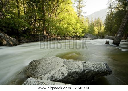 Yosemite Merced River Misty Water