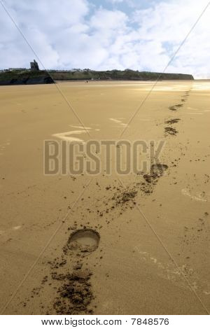 Ballybunion Beach Hoofprints
