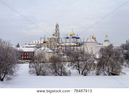 Sergiev Posad. Holy Trinity-sergius Lavra In Winter Time