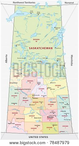Saskatchewan Administrative Map