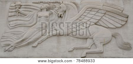 mythological carving