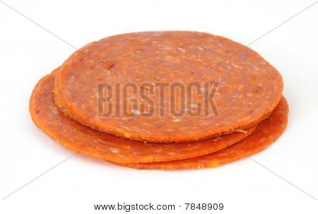 Small stack of pepperoni