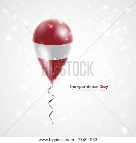 Latvian flag on balloon