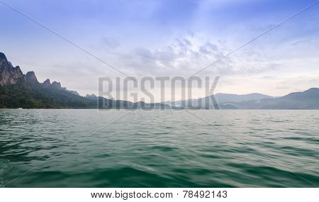 Mountains And River Natural Attractions In Ratchaprapha Dam In Khao Sok National Park, Surat Thani,