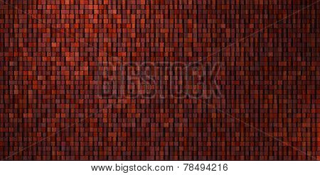 Grungy Mosaic Wall In Deep Red
