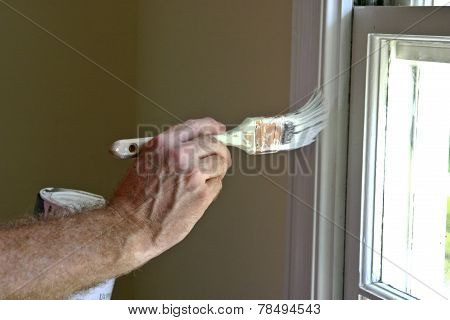 Interior Window Frame Painting