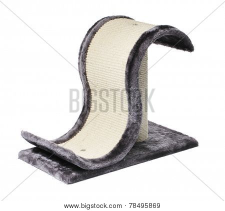 Cat scratching post isolated on a white background