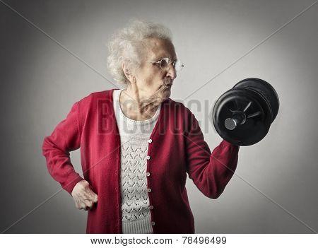 A strong grandma