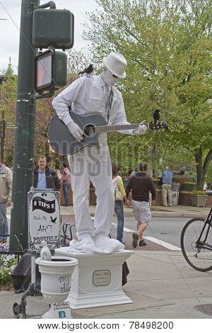 Asheville Man In White