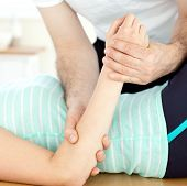 foto of massage therapy  - Close - JPG