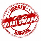 Постер, плакат: Danger Do Not Smoking