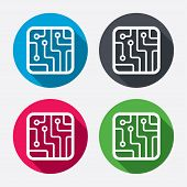 pic of sign-boards  - Circuit board sign icon - JPG