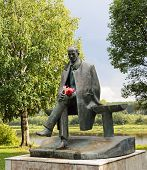 Постер, плакат: Sculpture Of Poet Nikolai Rubtsov In Totma