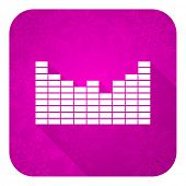 stock photo of christmas song  - sound violet flat icon - JPG