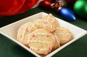 pic of shortbread  - Shortbread cookies with peppermint and frosting for Christmas - JPG