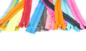stock photo of zipper  - Colorful zipper  - JPG