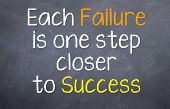 picture of motivational  - Motivational saying about learning from failure to reach the success that you want - JPG