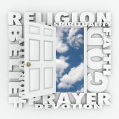 stock photo of morals  - Religion word and related terms like god - JPG