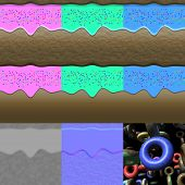 foto of diffusion  - Donuts generated textures with diffuse bump and normal - JPG
