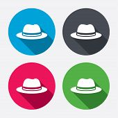 image of headdress  - Top hat sign icon - JPG