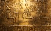 image of hieroglyph  - Egyptian hieroglyphics at the Tutankhamun - JPG