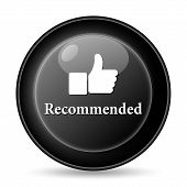 foto of recommendation  - Recommended thumb up icon - JPG