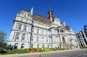 picture of city hall  - Montreal City Hall wide angle - JPG