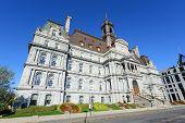 stock photo of city hall  - Montreal City Hall wide angle - JPG
